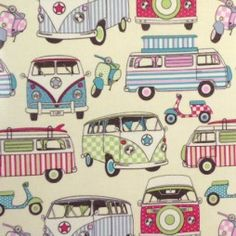 Happy Campers Candy Oilcloth Tablecloth    http://www.justwipe.co.uk/vinyl-coated-tablecloth/happy-campers-candy-gloss-vinyl-coated-tablecloth-sl/
