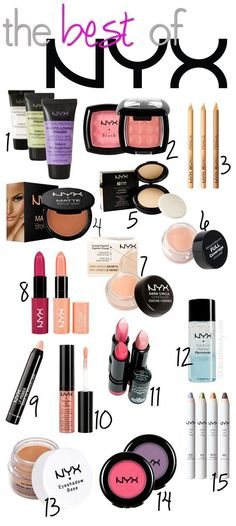 The BEST makeup from NYX, I love this brand!!
