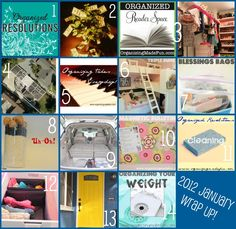 January Wrap up - LOTS of great organizing posts!