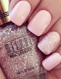 Rose Quartz Wedding Nails