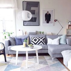 Nordiske Hjem @nordiskehjem | Websta Living Room Interior, Interior Livingroom, Roomspiration, Interior Inspiration, New Homes, Pastel, Couch, Interior Design, Architecture