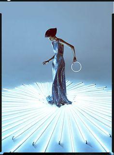 """Digital Art"" | Model: Wang Xiao, Photographer: Charles Guo, Harper's Bazaar China Art, October 2012"
