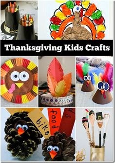 Thanksgiving Crafts for Kids - So many really cute, clever crafts for kids, kids activities, Thanksgiving table decorations and more! LOVE THIS LIST!