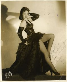 1940s Cuba Tropicana Rumba Dancer Xonia Signed Photo - Havana Collectibles