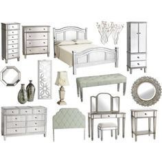 Hayworth Mirrored Furniture Collection | Hayworth Dresser - Polyvore