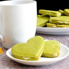 Galletas de mantequilla con TÉ MATCHA. Receta en inglés. Más info y venta de té en España en http://www.matchatea.es/