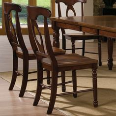 Pelican Point Wood Rectangular Dining Table & Chairs in Chestnut / Cherry by Winners Only