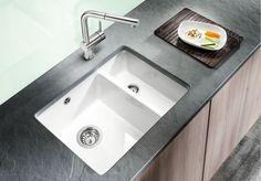 Lava-louça embutida de Silgranit® BLANCO SUBLINE 350/150-U - Blanco