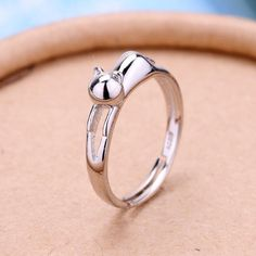 Gold & Silver Kitty Cat Ring