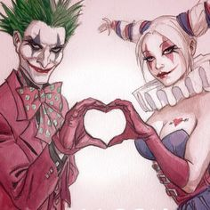 Harley and Joker Harley And Joker Love, Harley Quinn Comic, Harley Quinn Cosplay, Joker And Harley Quinn, Le Joker Batman, Joker Art, Joker Cartoon, Harley Quinn Tattoo, Harley Quinn Drawing