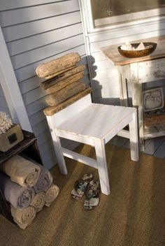 @Amber Zon- These upcycled chairs are perfect for the patio or the lakeside cabin. Construct these organic seats with flea market finds and stockpiled driftwood. Exerted from The Art of Upcycle