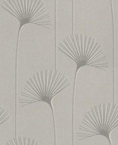 Delta (110084) - Harlequin Wallpapers - A stylized dandelion clock in a light catching silver/grey, other colour ways available. Please request a sample for true colour match. Paste-the-wall product.