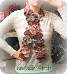 Crochet Crocodile Stitch Scarf