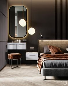 kamar hotel Bedroom hotel chique best i - hotel Hotel Bedroom Design, Modern Bedroom Design, Home Room Design, Contemporary Bedroom, Modern Room, Home Decor Bedroom, Modern Contemporary, Bedroom Rustic, Bedroom Ideas