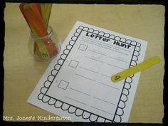 Mrs. Jones's Kindergarten: Literacy Center Freebie!