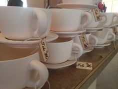Alice in Wonderland Ready-to-Decorate Teacups