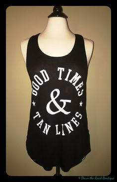 This tank is made for the girls with a little more curve. It is available in black and white. Sizes are Xlarge, 2X, and 3X.