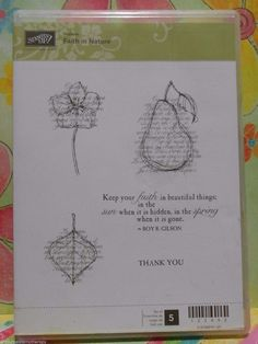 Stampin' Up! FAITH IN NATURE Clear Mount Stamp Set RETIRED RARE in Crafts, Stamping & Embossing, Stamps   eBay