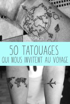 Des idées de tatouages sur le thème de l'évasion. Trouvez l'inspiration pour un tattoo de voyage !