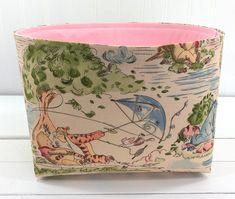 Winnie the Pooh Nursery Decor Fabric Storage Bin Storage | Etsy Fabric Storage Baskets, Bin Storage, Winnie The Pooh Nursery, Basket Organization, Baby Girl Nursery Decor, Fabric Decor, Etsy
