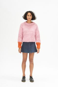 The Zip Zap Jumper - Pink & Orange Well Made Clothes