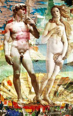 Spiaggia Nudisti Statue, Painting, Art, Art Background, Painting Art, Paintings, Kunst, Sculpture, Sculptures