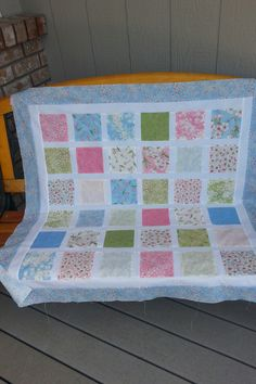 #sakurablossoms quilt top - five inch charms with sashing. Love the sweet vibe!
