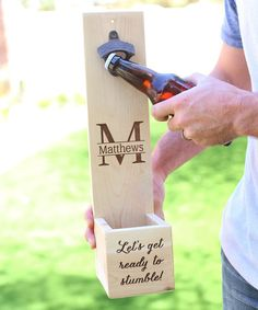 Love this Tall 'Let's Get Ready to Stumble' Personalized Bottle Opener on #zulily! #zulilyfinds