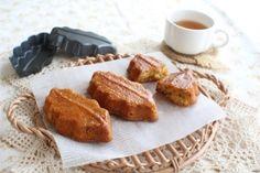 「木の葉のキャラメルケーキ【No.261】」※BKシリコン加工 リーフ型 5個分秋の森のイメージでほろ苦いキャラメルクリームと香ばしいナッツを加えたバターケーキです。【楽天レシピ】