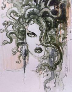 love the idea of a Medusa tattoo