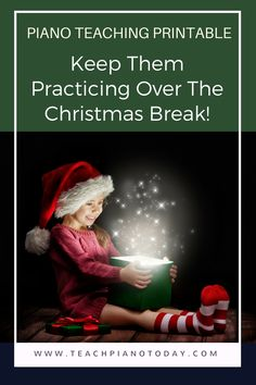 Free printable for piano teachers - practice incentive that works great over the holiday break!