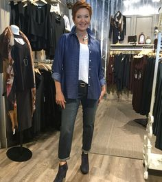 August 2016- The boyfriend jean looks dynamite dressed up or down.