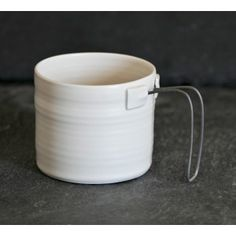 porcelain/metal mugs by Nathalie Audibert -  Le Repère des Belettes