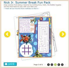 http://www.nickjr.com/printables/nickjr-summer-break-fun-pack.jhtml