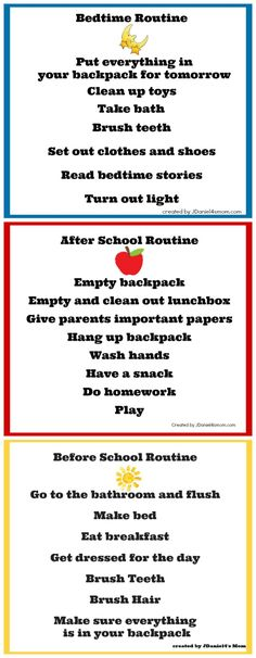 Back to School Chore Charts - helpful as your kids transition from summer adventures to a more structured every day routine