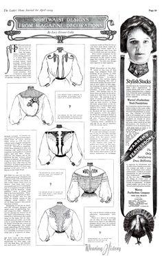Wearing History Blog | Shirtwaist Designs, 1904 (Ladies Home Journal)