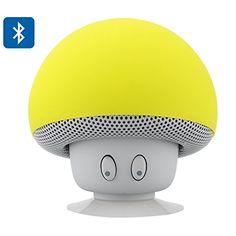 Yellow Mushroom Altavoz Bluetooth - Splash Proof, ventosa, 3W de salida, 10 Metros Range, 280mAh Batería Recargable, Sólo la entrega más rápida Expedita Mushroom http://www.amazon.es/dp/B00SKRMB1G/ref=cm_sw_r_pi_dp_c4unvb0EGZT5E