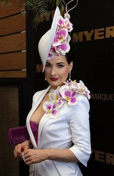 Read all the latest from the Spring Racing Carnival including Melbourne Cup Carnival. Read more spring racing at Herald Sun Girl With Hat, Up Girl, Ladies Day Outfits, Dita Von Teese Style, Dita Von Tease, Vintage Outfits, Vintage Fashion, Vintage Style, Spring Racing Carnival