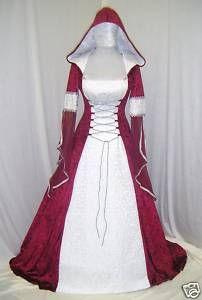 Gothic Medieval Hooded Wedding dress