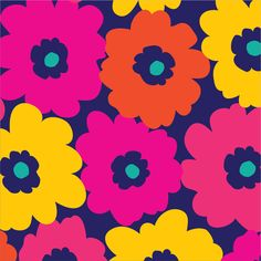 Navy Bright Flower, Mixed Bag Designs Fall 2014 print