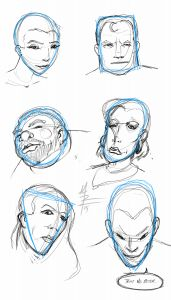 A while back, I posted about head shapes. While at brunch today, I decided to do some warm up sketches using a new set of head shapes and see what popped out. Head Shapes, Sketches, Tattoo, Image, Art, Drawings, Art Background, Kunst, Tattoos