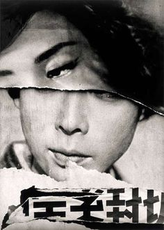 William Klein - Tokyo, 1961 Collages = déchirures, couture, découpe-repli (origami), trous, scotch, volume (vis, épingles)