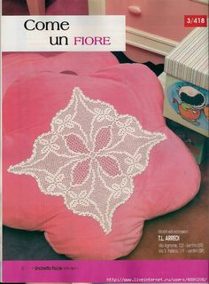 "Photo from album ""Рукоделие"" on Yandex. Doilies, Bean Bag Chair, Napkins, Throw Pillows, Blanket, Crochet, Floral, Home Decor, Lee Ann"