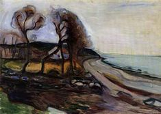 Edvard Munch by The Shore