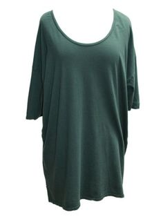 YogaColors Crystal Cotton Jersey Loose Fit Tunic Top Tee for $32.00