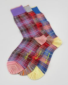 Robert Graham Williams Plaid-Print Socks, 3-Pack | Fall Trends for Men - Plaid Squares | mens plaid socks | menswear | mens style | mens fashion | wantering http://www.wantering.com/mens-clothing-item/williams-plaid-print-socks-3-pack/aclj7/