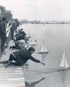 Shoot with brothers and sisters launching boats