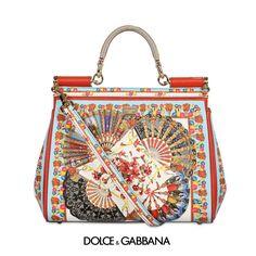 9aa53f790a  国内発送 関税込 ☆Dolce   Gabbana☆扇柄ハンドバッグ☆
