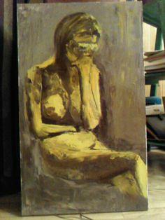 Songeuse huile a la spatule Photos, Painting, Art, Canvases, Art Background, Pictures, Photographs, Painting Art, Kunst
