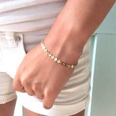 Gold Bracelet Dainty Gold Bracelet Bridesmaids by AvaHopeDesigns